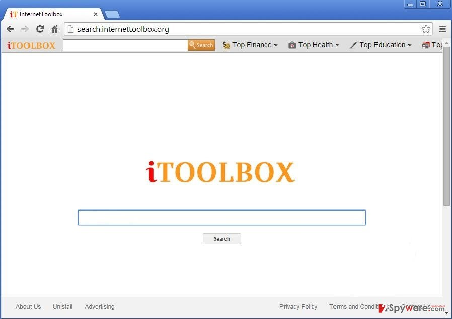 Search.internettoolbox.org snapshot