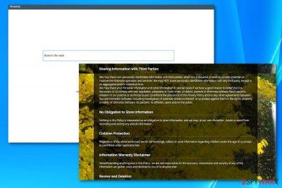 The screenshot of search.ishimotto.com