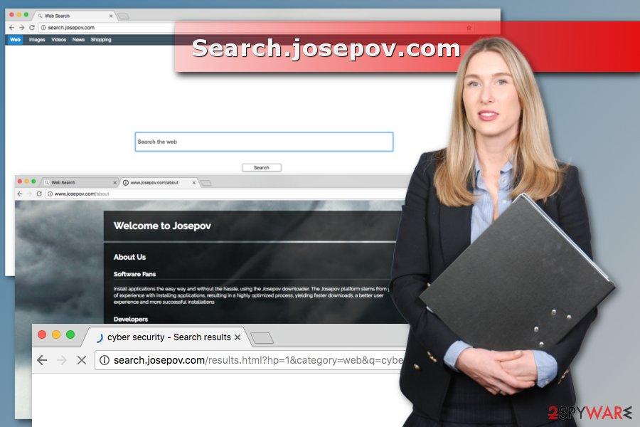 Illustration of Search.josepov.com virus