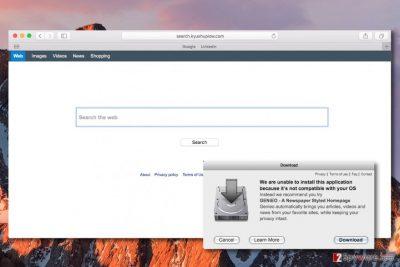 Search.kyushuplow.com redirect virus