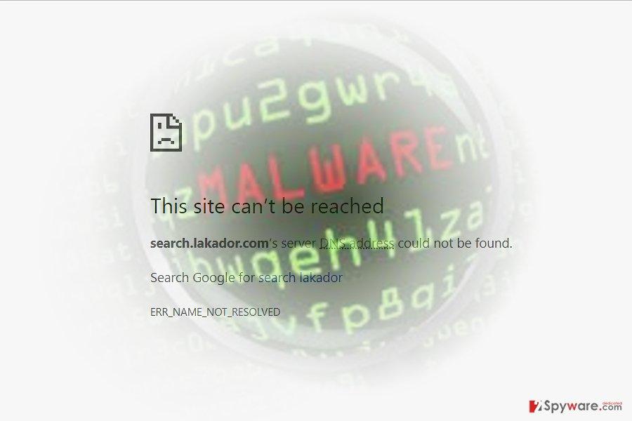 Search.lakador.com virus sample