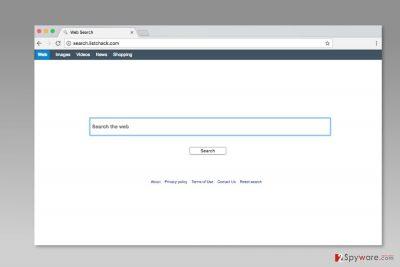 The screenshot of Search.listchack.com
