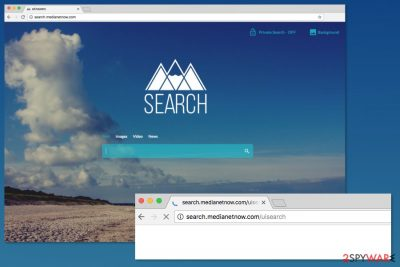 Image of Search.medianetnow.com browser hijacker