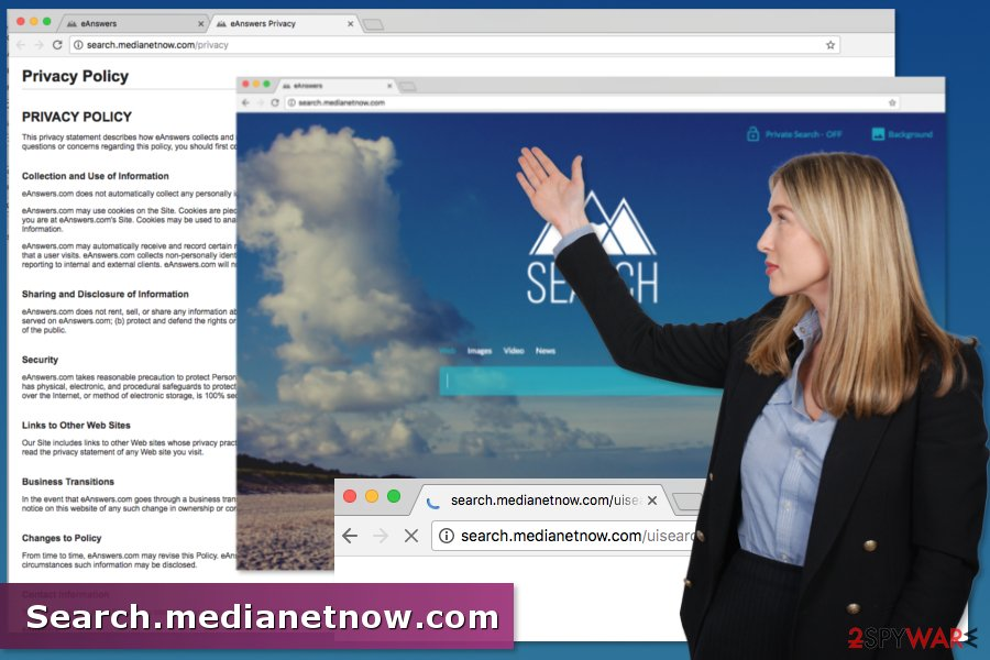 Example of Search.medianetnow.com virus