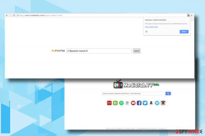 Search.mediatabtv.online hijacks the most popular web browsers