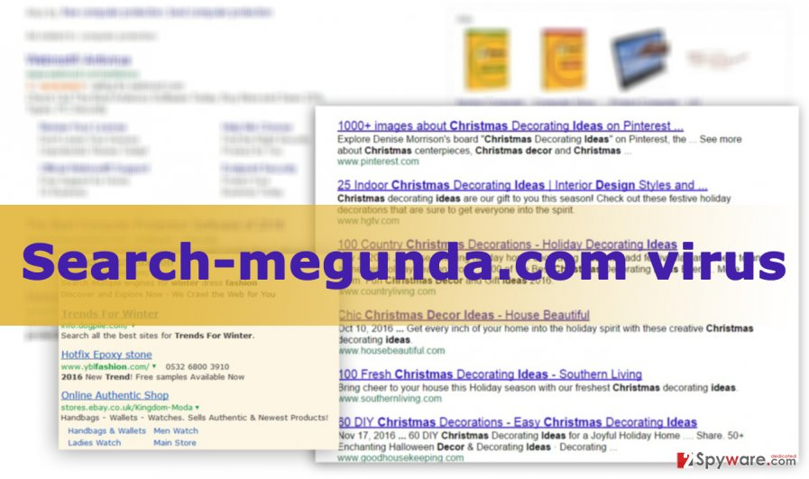 Illustration of Search-megunda.com virus
