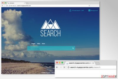 Image of Search.myappzcenter.com browser hijacker