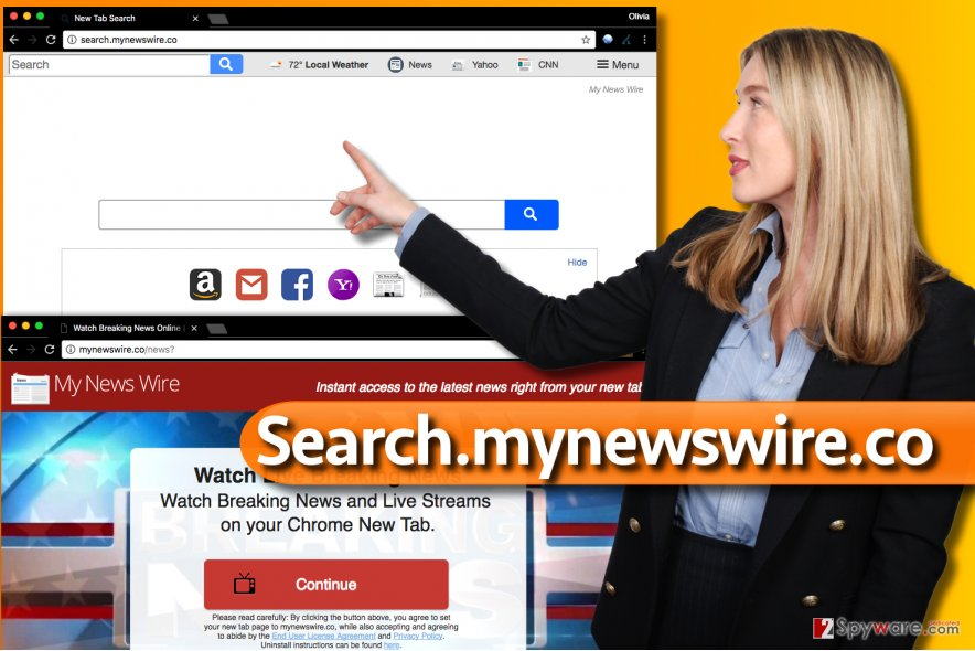Search.mynewswire.co virus