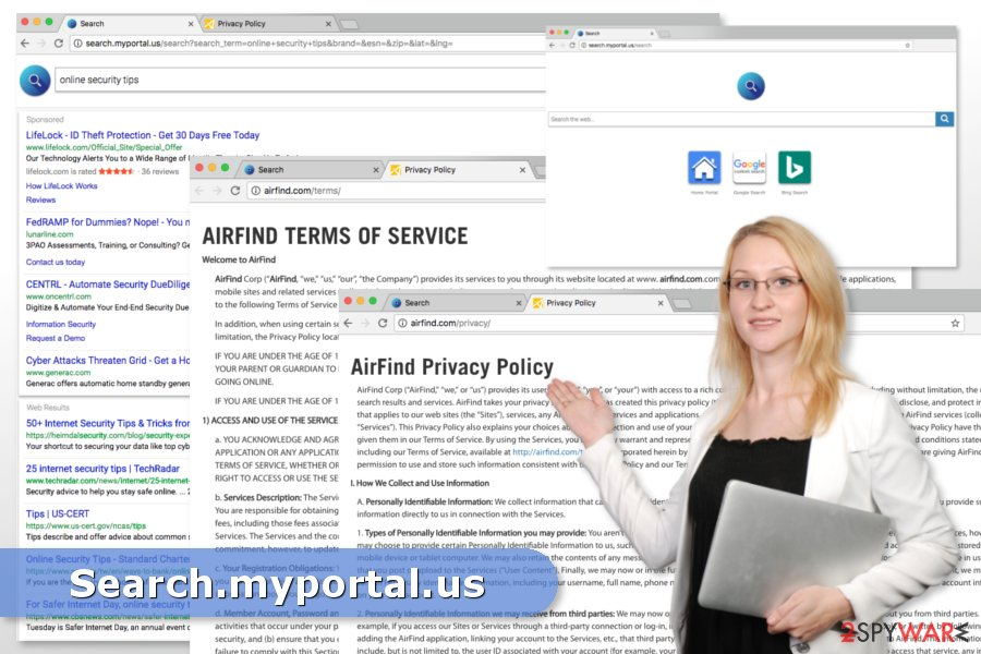The image of Search.myportal.us virus