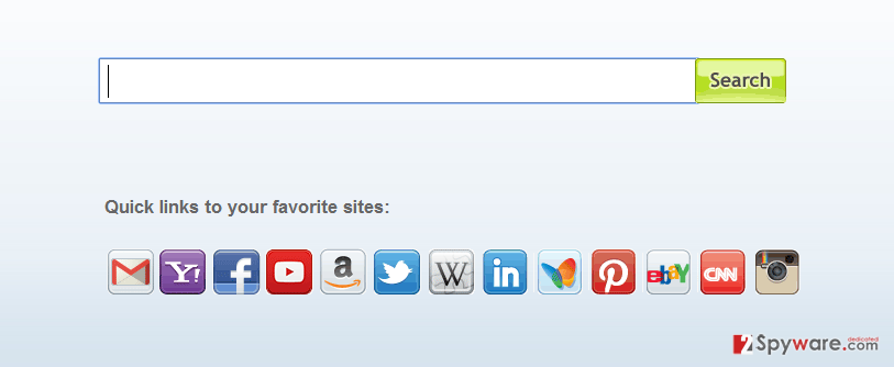 The example of myway search engine