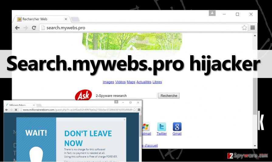 Search.mywebs.pro browser hijacker in Chrome