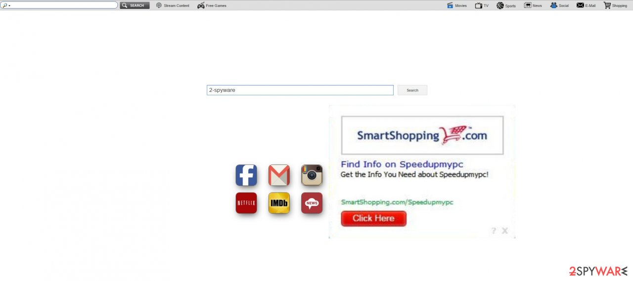 The screenshot showing search.newtab-mediasearch.com virus