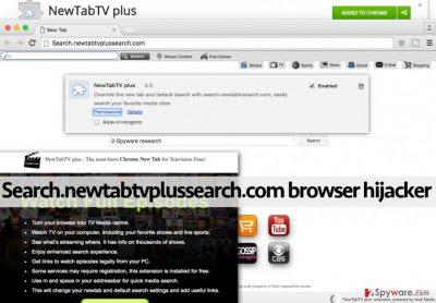 Search.newtabtvplussearch.com redirect virus