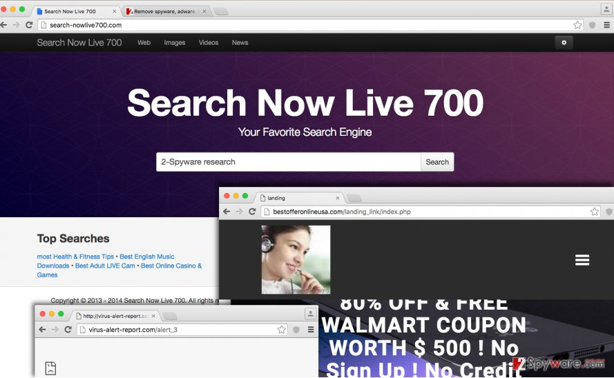 Search-nowlive700.com hijacker replaces homepage with this suspicious website