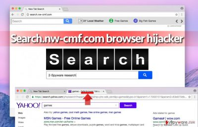 Picture of Search.nw-cmf.com browser hijacker