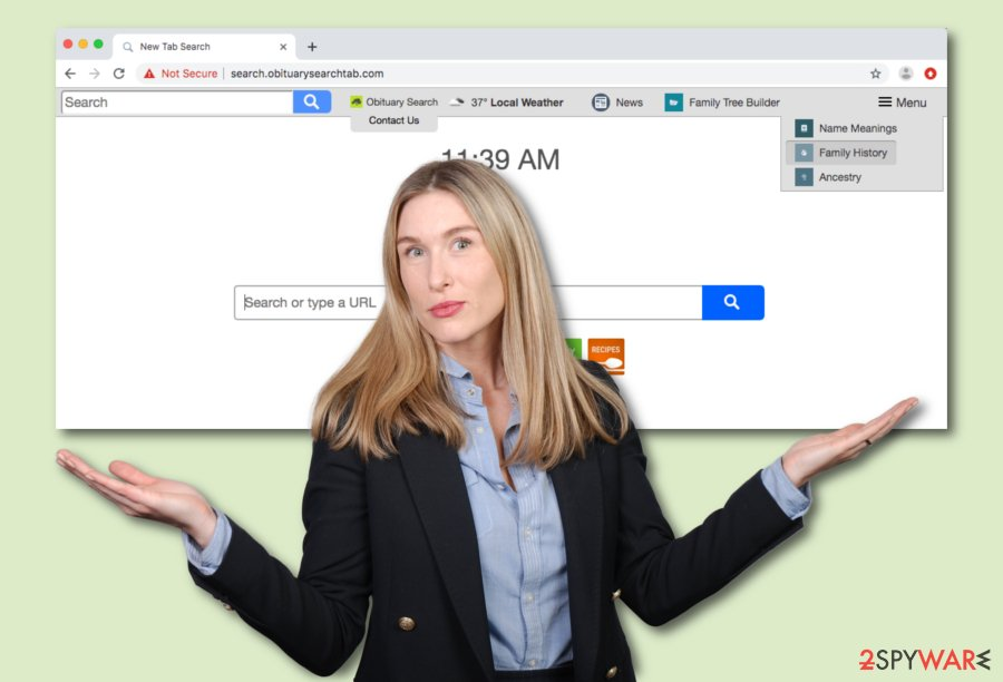 Search.obituarysearchtab.com virus