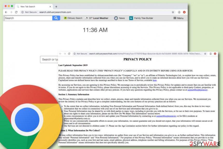 Search.obituarysearchtab.com hijacker