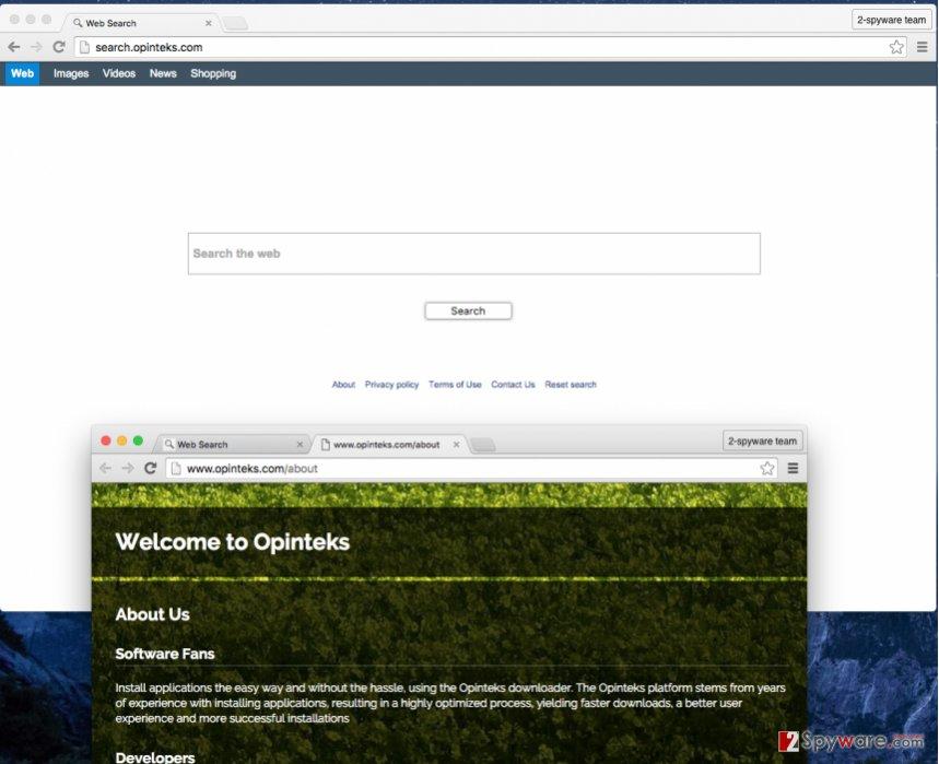 Search.opinteks.com redirect virus