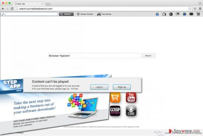 Search.ourmediatabsearch.com hijacker changes browser's settings