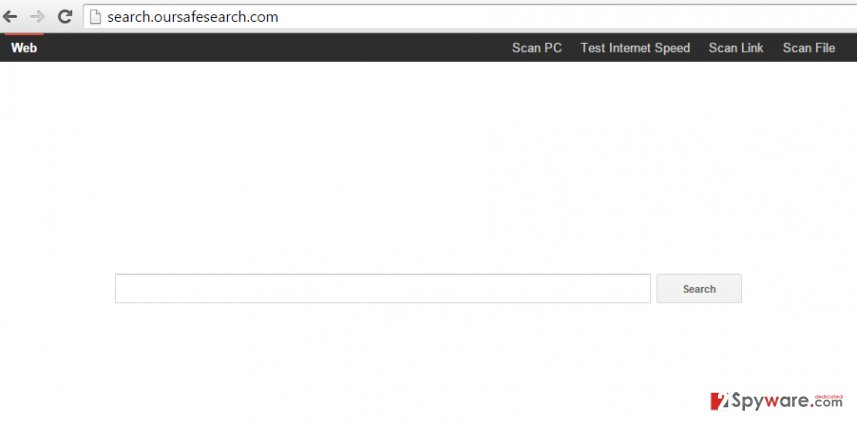 Search.oursafesearch.com hijack