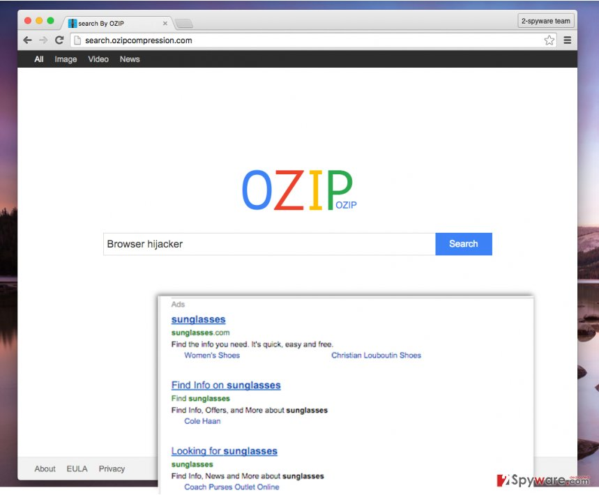 Search.ozipcompression.com redirect virus