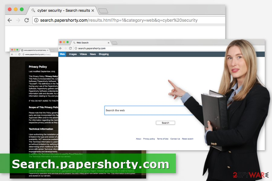 Picture of Search.papershorty.com virus