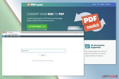 Screenshot of Search.pdftoolkit.net