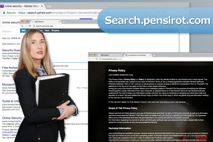 The picture of Search.pensirot.com virus