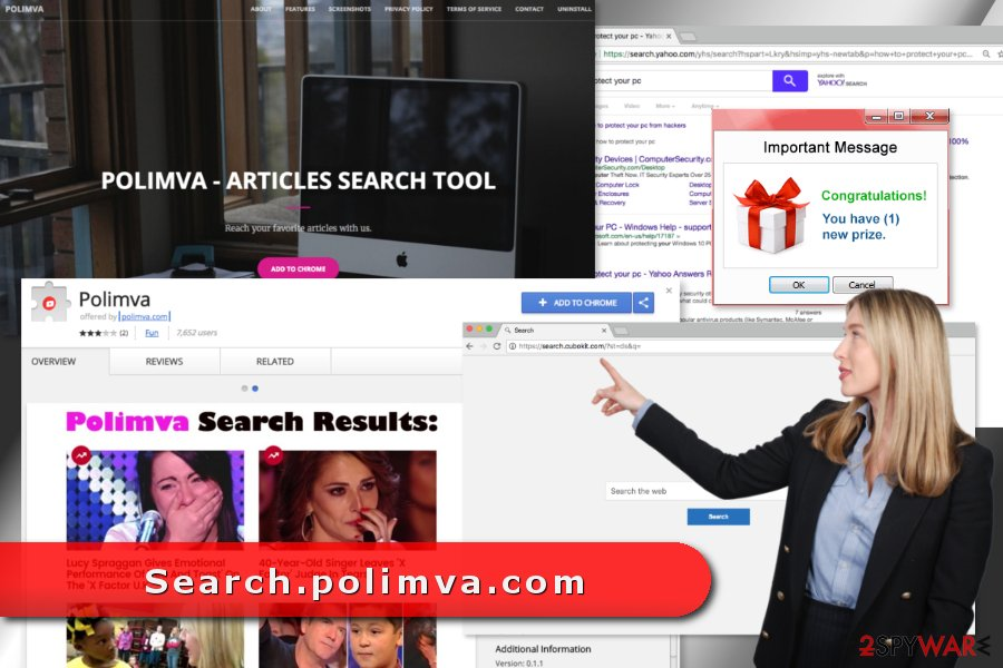 The picture of Search.polimva.com virus