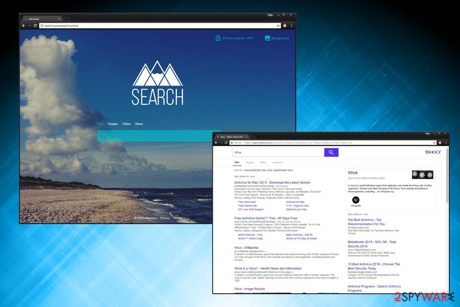 Search.powersearch.online virus