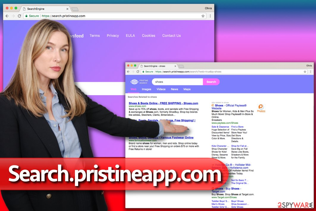 Search.pristineapp.com hijack