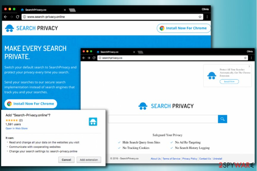 Privacy Search virus