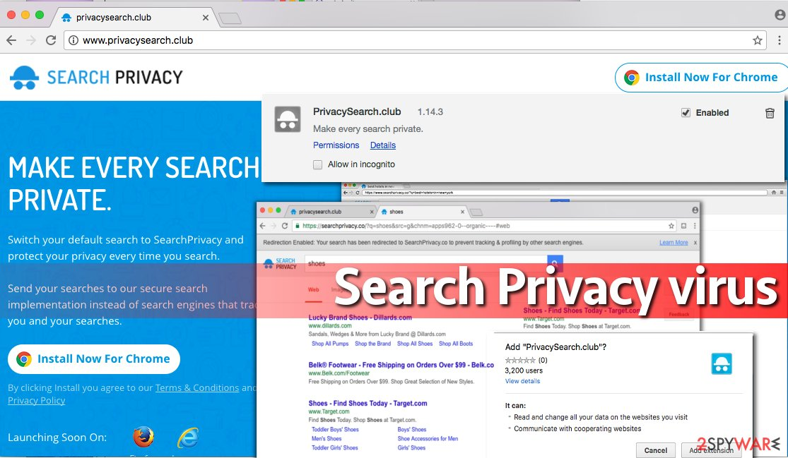Screenshot of Search Privacy virus