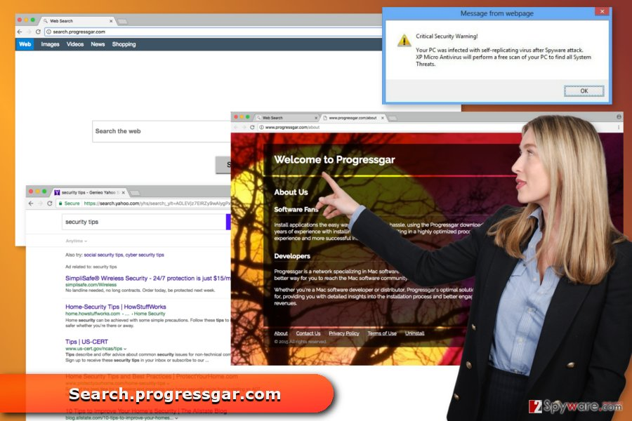 The image of Search.progressgar.com virus