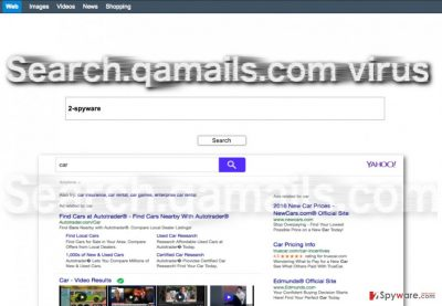 Image of the Search.qamails.com hijacker virus