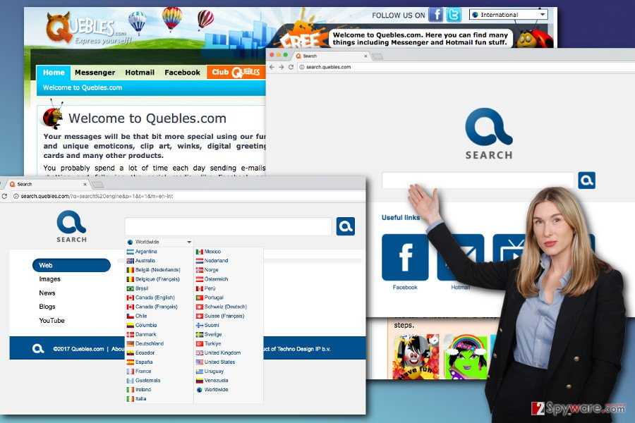 The image of Search.quebles.com virus