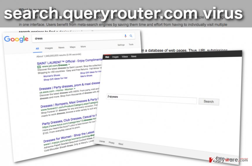 Image of the Search.queryrouter.com browser hijacker