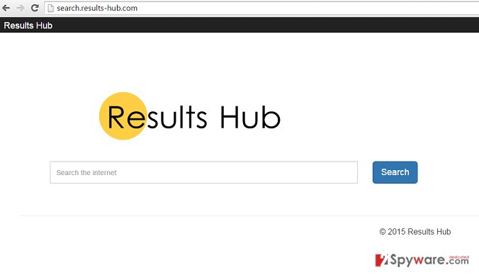 Search.results-hub.com hijack