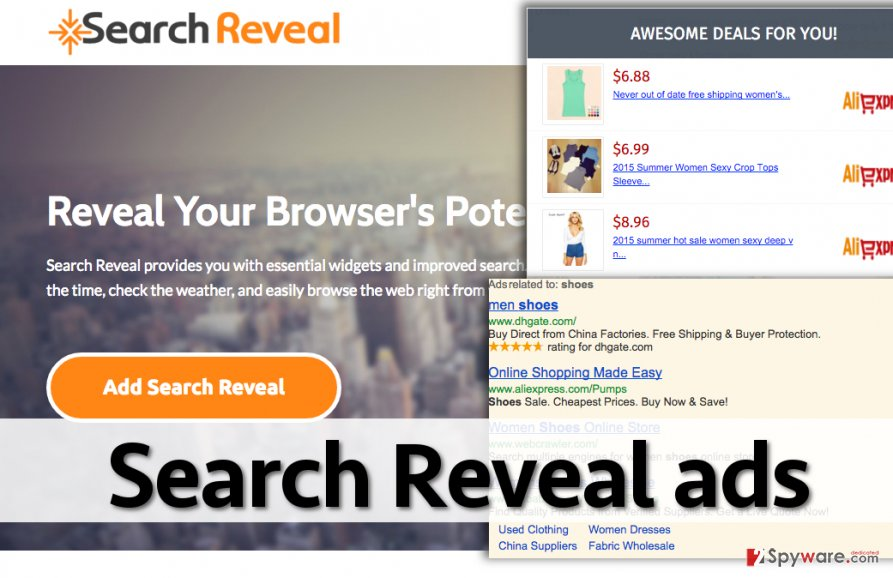 Ads by Search Reveal virus
