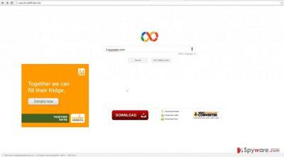 The screenshot of search.safefinder.biz
