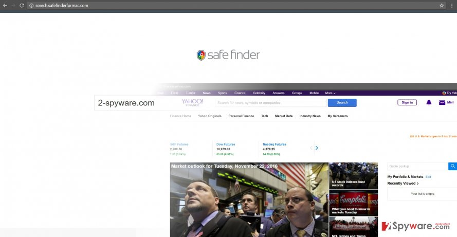 The exapmple of search.safefinderformac.com