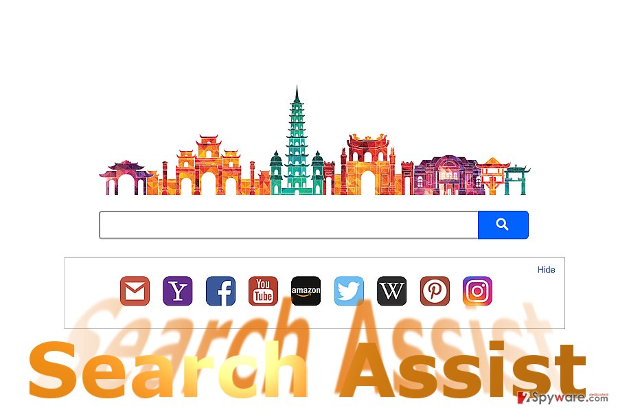 The image of search.searchsassist.com home page