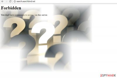 The image of search.searchbind.net page
