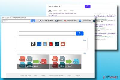 A screenshot of Search.searchcfpdf.com start page
