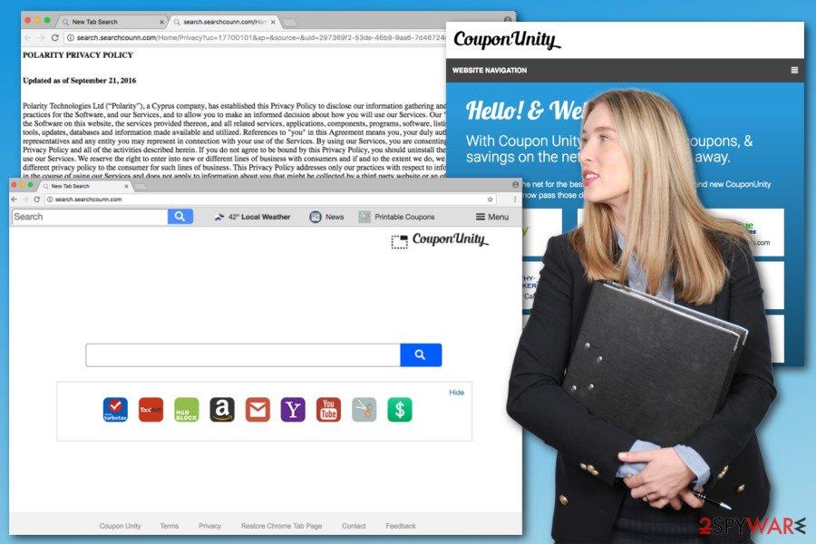 Illustration of Search.searchcounn.com virus