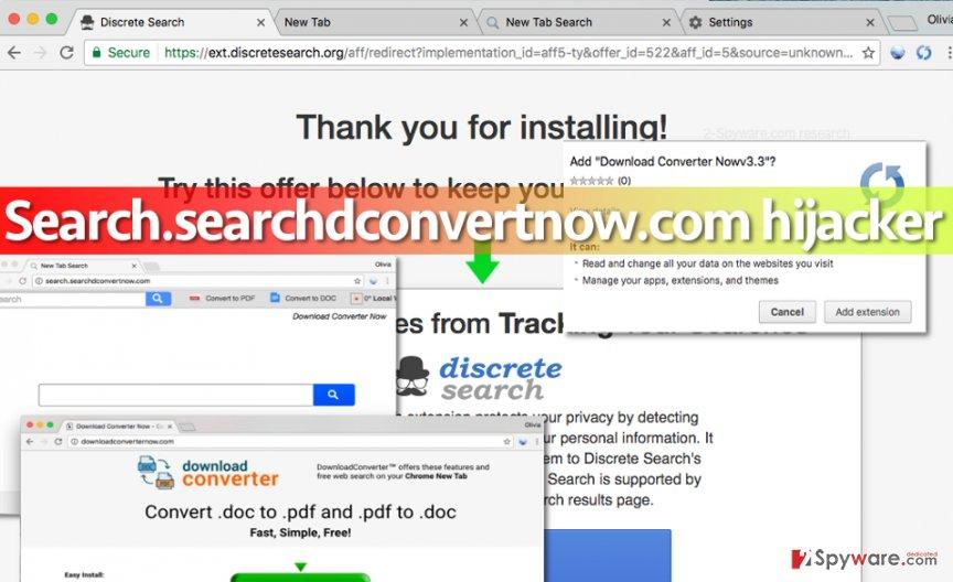Search.searchdconvertnow.com redirect virus: installation
