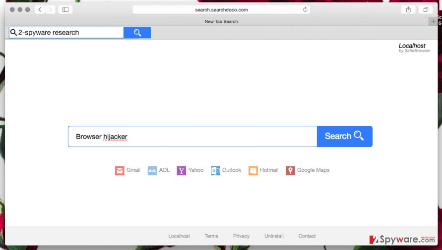 Screenshot of Search.searchdoco.com browser hijacker
