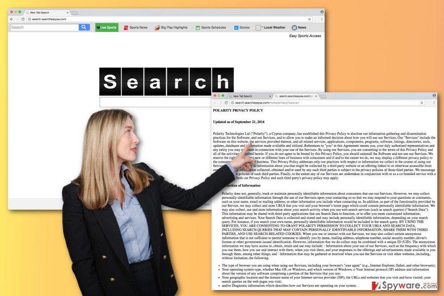 The picture of Search.searcheasysa.com virus