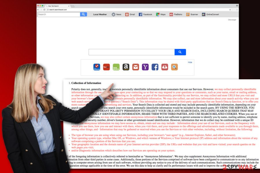 The image of Search.searcheazel.com virus
