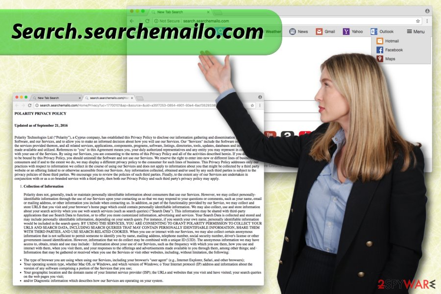 Displaying  Search.searchemailo.com hijack